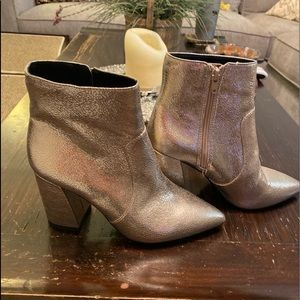Silver Gianni Bini ankle boots